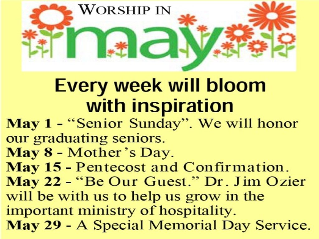 worship in may 2016