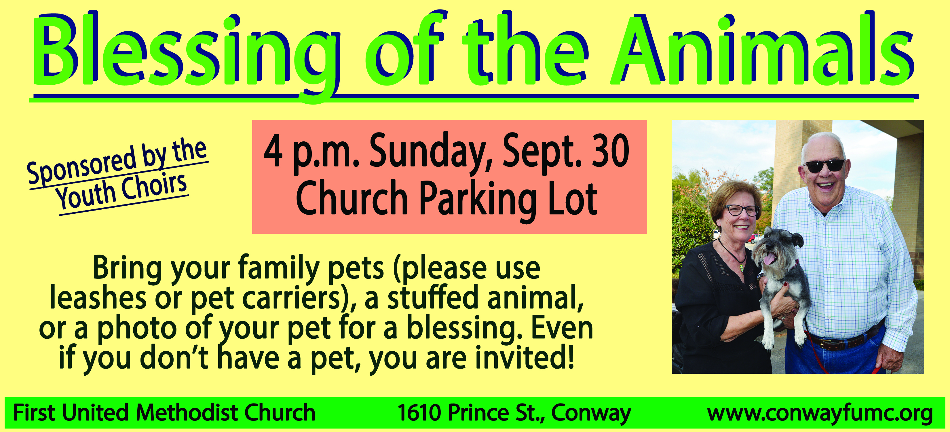 blessing of the animals sept 2018 - First United Methodist